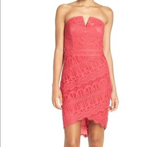 EUC strapless lace dress